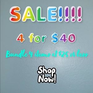 4 for $40! Bundle and save!